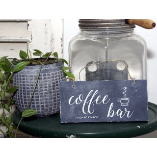 Holzschild coffee bar Shabby Chic