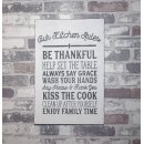Holzschild Shabby Chic  Our Kitchen Rules 30x20 cm