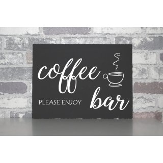 Leinwand  coffee bar   Shabby chic Canvas Board