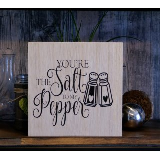 Holzschild  You´re the salt to my pepper 20x20
